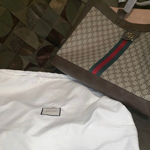 Gucci Ophidia Soft Tote GG Coated Canvas Large
